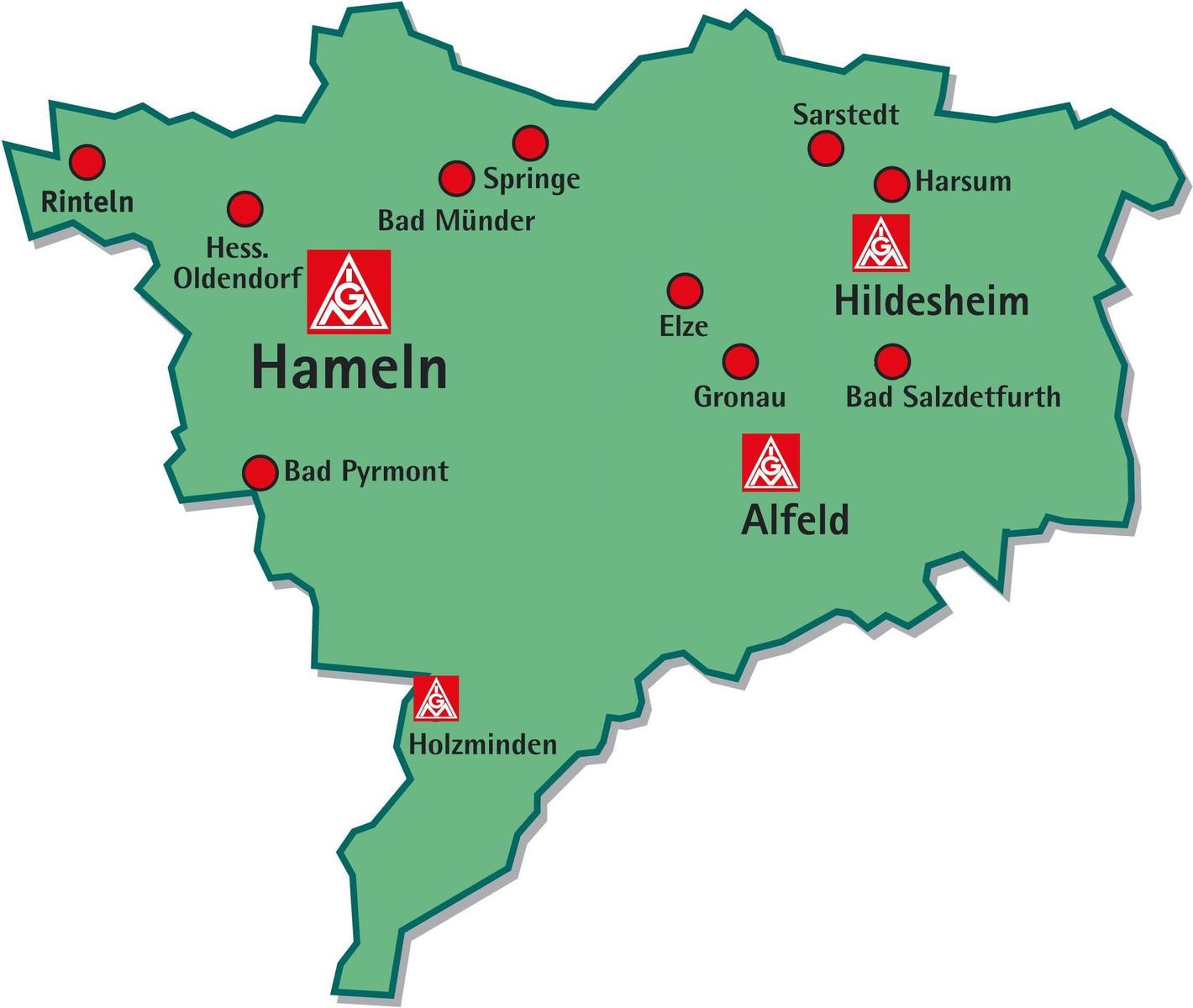 Hameln Karte.Die Geschäftsstelle Ig Metall Alfeld Hameln Hildesheim